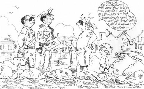 Illegale landwinning?   AD cartoon