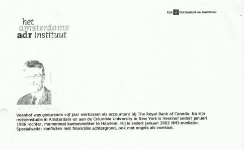 Veenhofs onder link 2 vermelde cv werd op 10 november 2013 van het internet gehaald