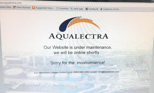 Website Aqualectra gehacked