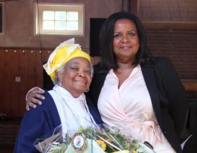 Marvelyne Wiels was bij viering van de dag van de vlag in Tilburg | Foto Curaçaohuis