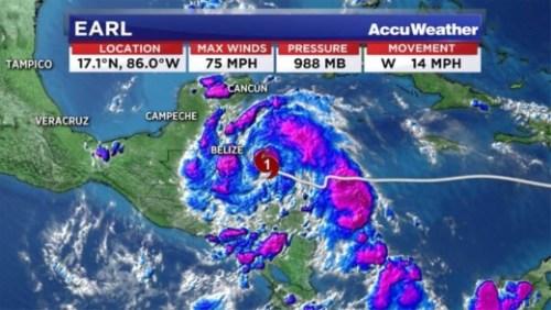 Earl is de eerste orkaan van dit orkaanseizoen in de regio.