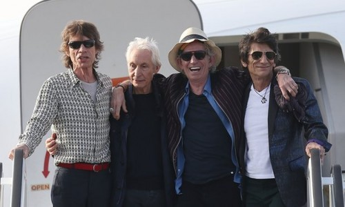 Mick Jagger, Charlie Watts, Keith Richards and Ronnie Wood of the Rolling Stones-Cuba