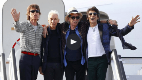 The Rolling Stone arrive in Cuba: 'Time changes everything.'