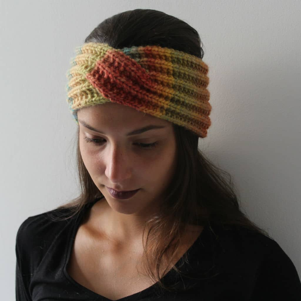 Headband to knit twisted-vintage look-quick and easy pattern - Knit'n'Roll