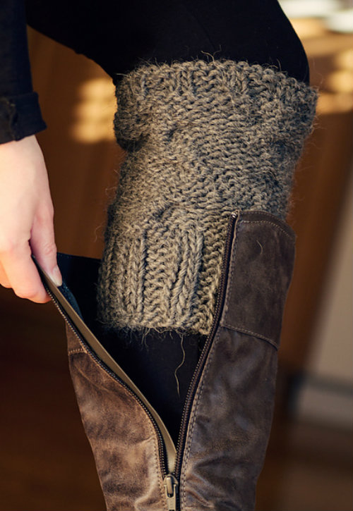 Outstanding Knitted Boot Cuff Patterns Ornament Easy Scarf