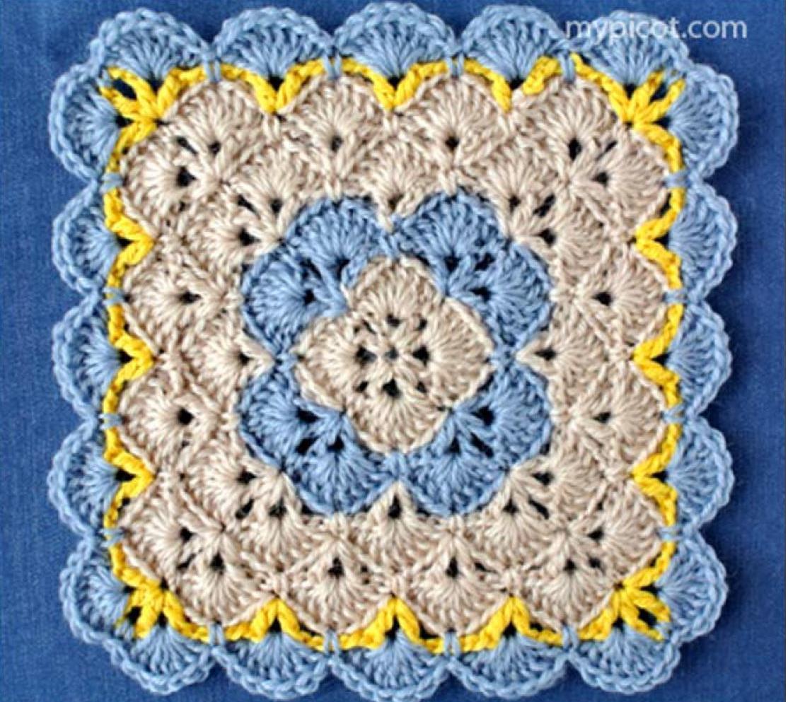 diagram for granny square crochet stitch john deere 320 drive belt patterns knit1knitall