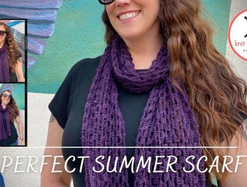 Perfect Summer Crochet Scarf Free Pattern