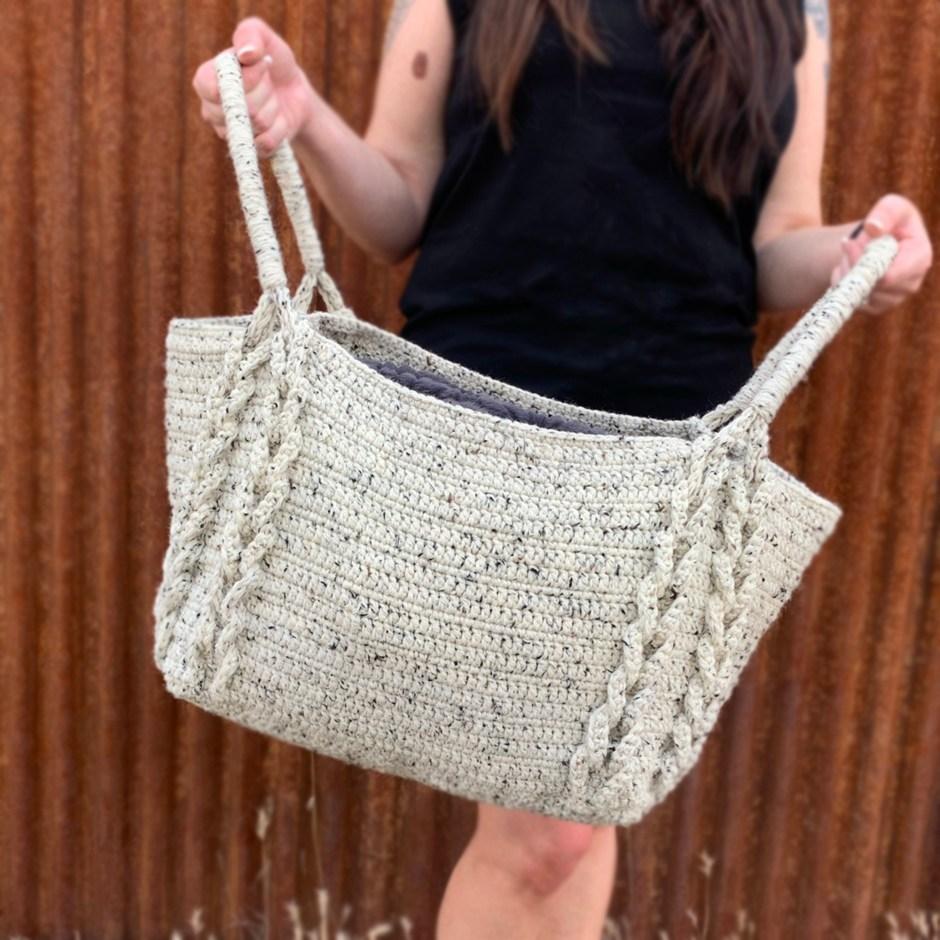 Braided Crochet Basket