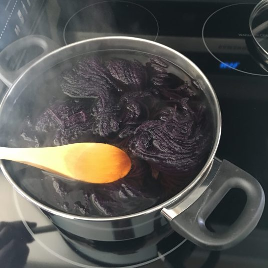 Cooking some yarn.
