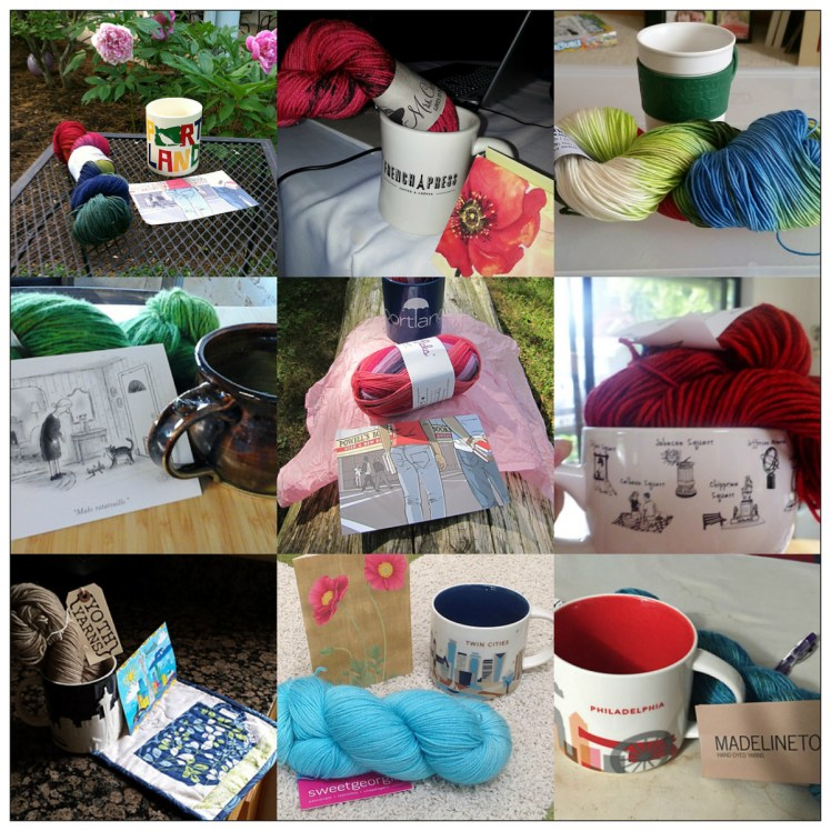 Sip and Knit collage