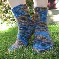 Malabrigo Twist toe-up socks