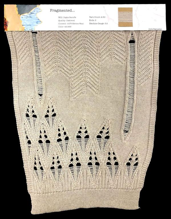 knitGrandeur: Designer:Cora Ramadan- FIT Knitwear Specialization, Linear Stitch Design Project 2018