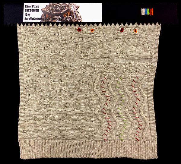 Designer: Elinor Vizard- knitGrandeur: FIT Knitwear Specialization, Linear Stitch Design Project 2018