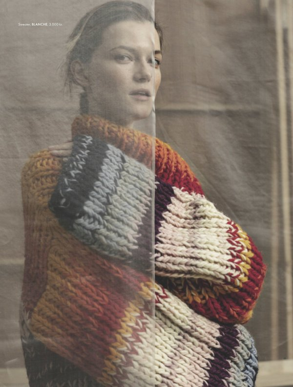 knitGrandeur: Marled Stripes- Blanche, ELLE Denmark F/W 2019
