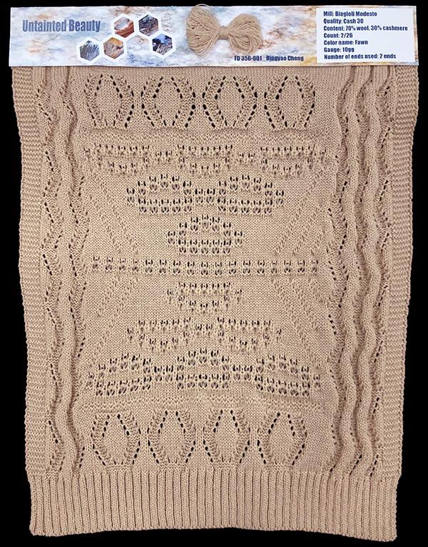 knitGrandeur: Designer:Bingyao Cheng- FIT & Biagioli Collaboration 2019: Linear Stitch Design Project