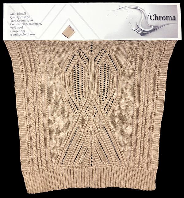 knitGrandeur: Designer: Daryn Huang- FIT & Biagioli Collaboration 2019: Linear Stitch Design Project