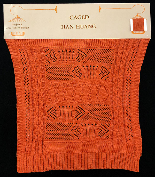 knitGrandeur: Designer: Han Haung- FIT & Biagioli Collaboration 2019: Linear Stitch Design Project