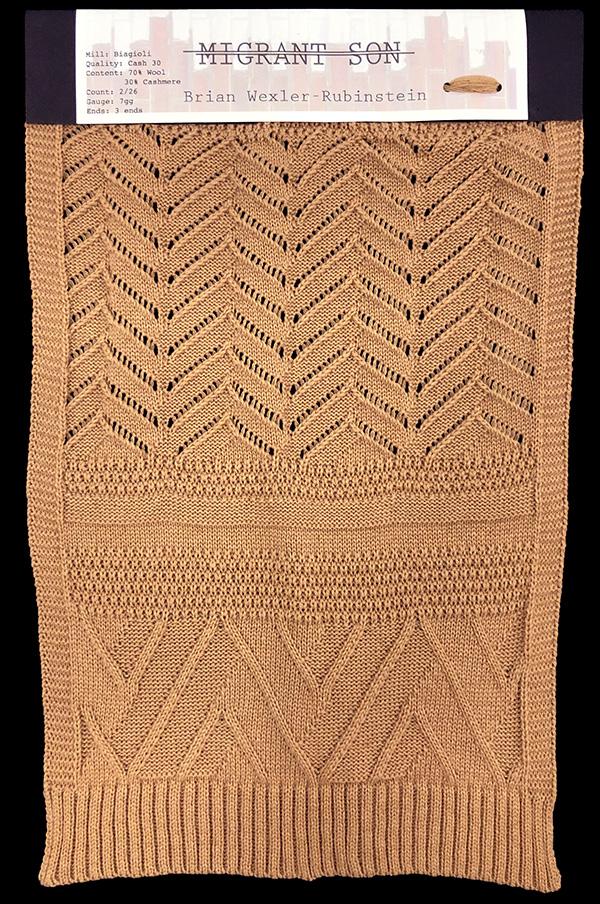 knitGrandeur: Designer:Brian Wexler-Rubinstein- FIT & Biagioli Collaboration 2019: Linear Stitch Design Project