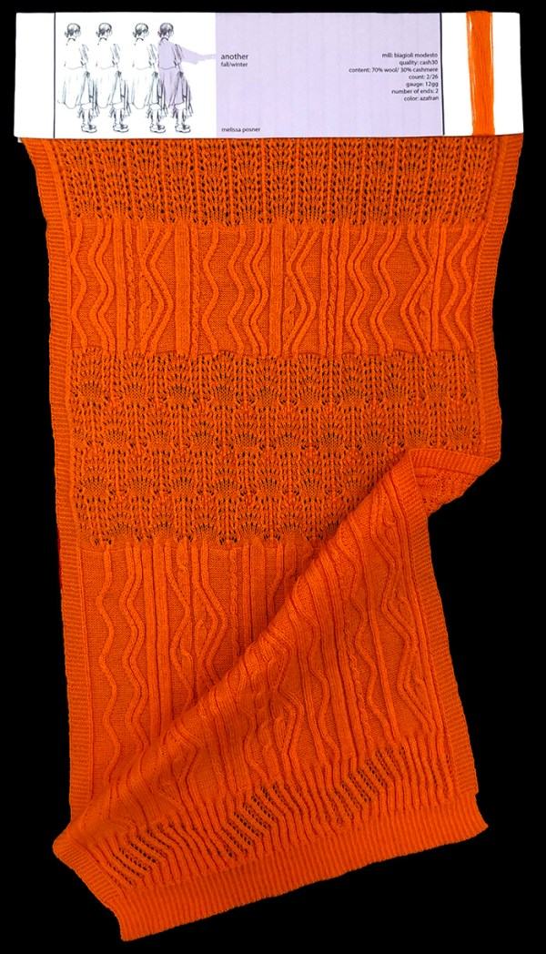 knitGrandeur: Designer:Melissa Posner- FIT & Biagioli Collaboration 2019: Linear Stitch Design Project