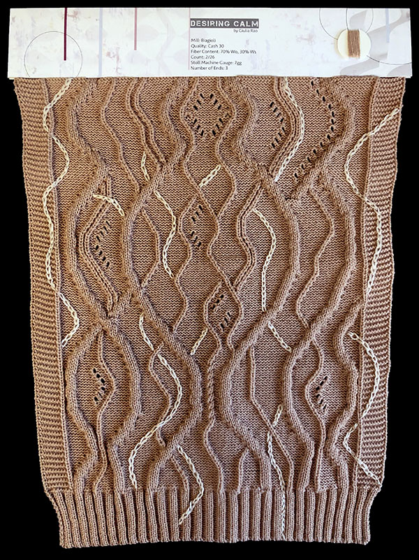 knitGrandeur: Designer: Giulia Rao - FIT & Biagioli Collaboration 2019: Linear Stitch Design Project
