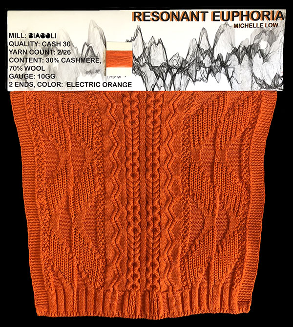 knitGrandeur: Designer: Michelle Low - FIT & Biagioli Collaboration 2019: Linear Stitch Design Project