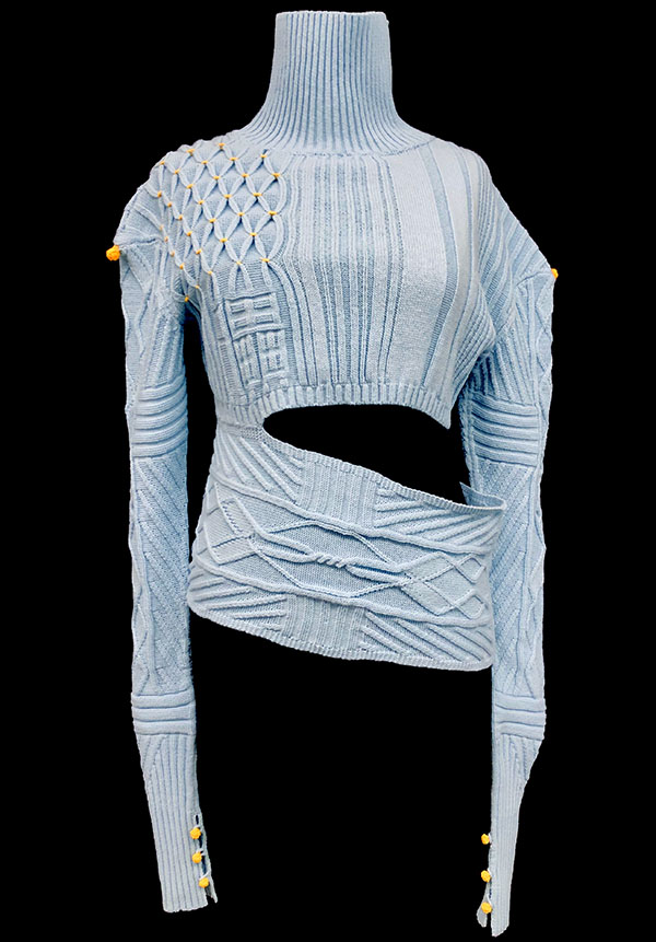 knitGrandeur: Designer: Anqi Jiang-FIT & Biagioli Modesto Collaboration 2019: Term Garment Project Featuring Cash 30