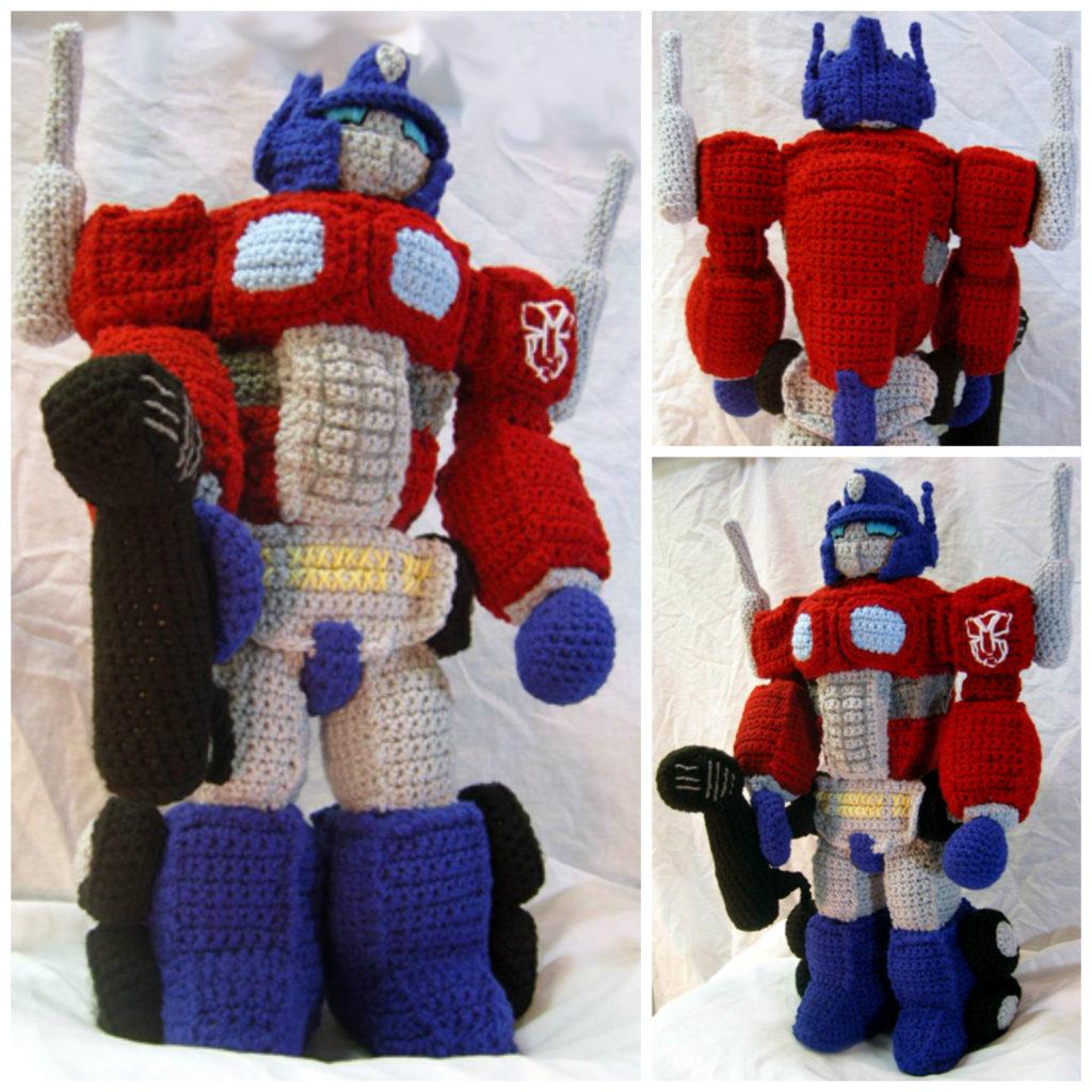 Crochet Optimus Prime Tribute Doll By Vox Mortuum Knithacker