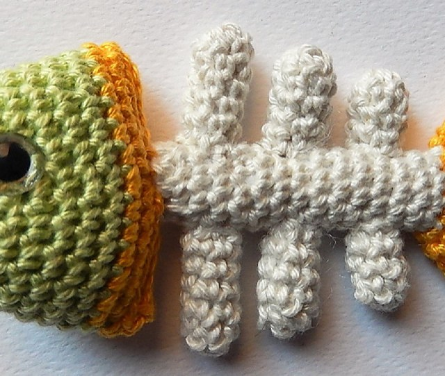 Crochet A Fish Bone Cat Toy With This Free Pattern