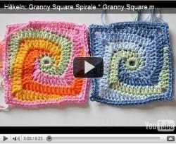 Квадраты- спиральки вязание крючком видео