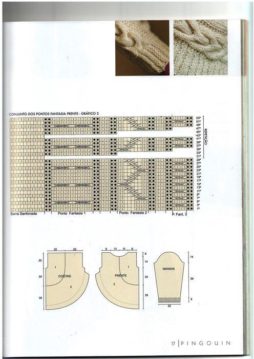 Пуловер для женщин. Схема вязания спиццами