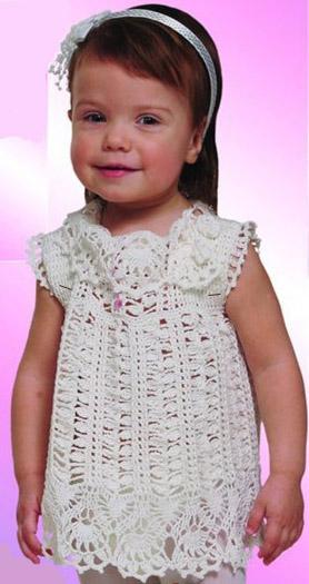 вязание платья девочке