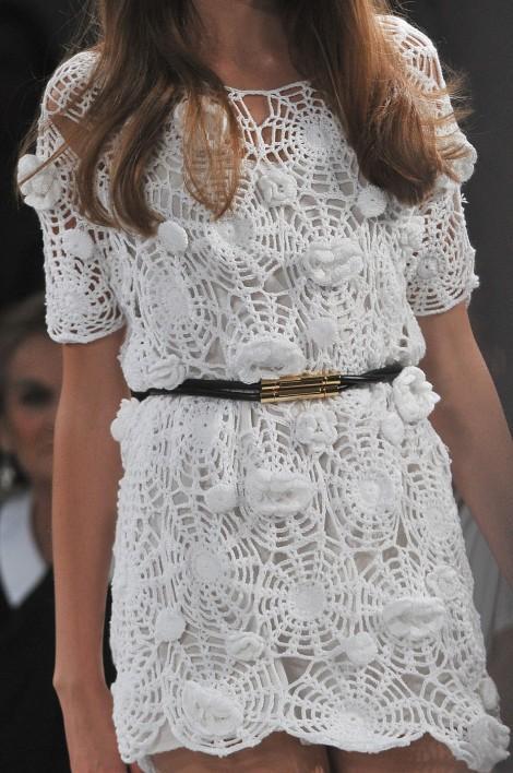 Вязаное платье в моде