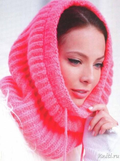 Розовый шарф - хамут