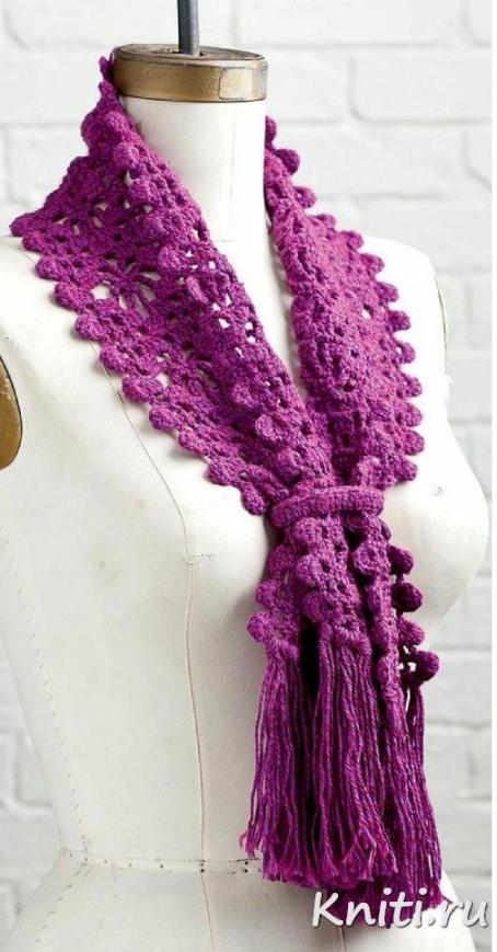 Красочный, яркий шарфик