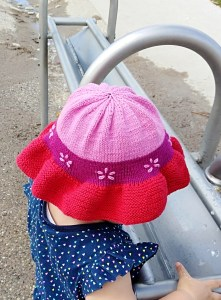 Wiser Baby Sun Hat being worn