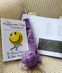Happiness Trap Pocketbook and Knitting on the Edge Book
