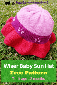 Wiser Baby Sun Hat photo with text