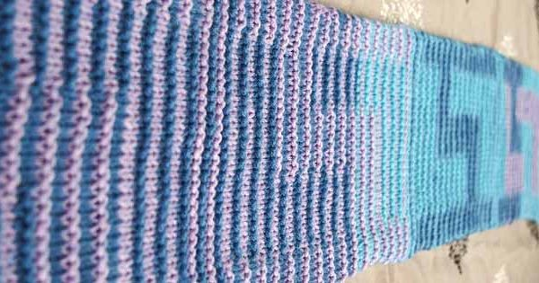 Shadow Knitting with Sweet Roll yarn