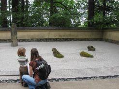 Japanese Garden sand garden detail