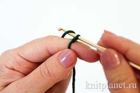 Crochet de lazo deslizante. Método 1. Etapa 4.