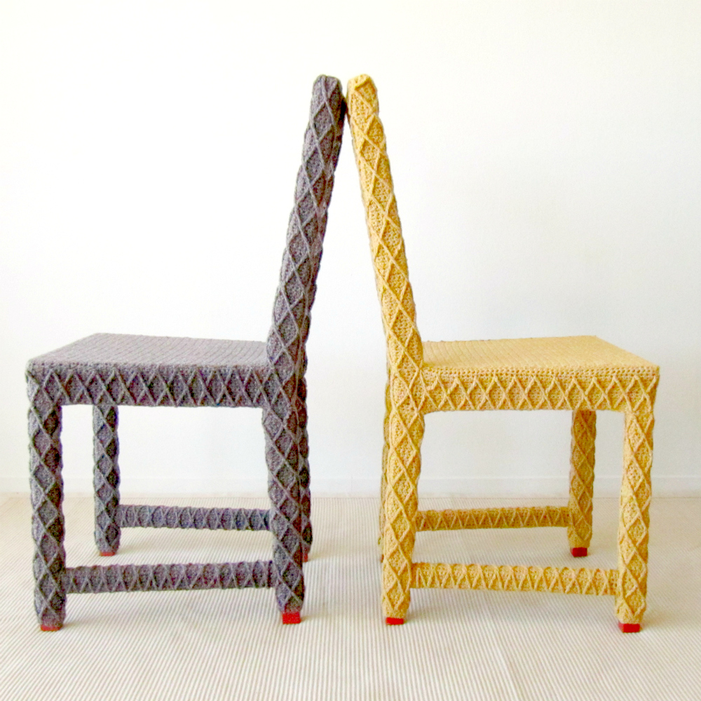 Upcycled Chairs  KNITS FOR LIFE
