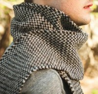 Knit two color scarf pattern
