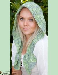 Hooded scarf knitting pattern free