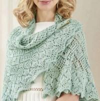 Circular lace shawl knitting pattern