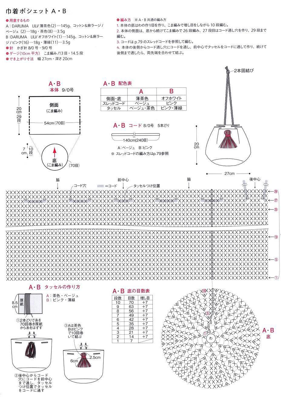 hight resolution of crochet diagram