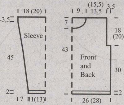 Brioche rib pullover with cable pattern