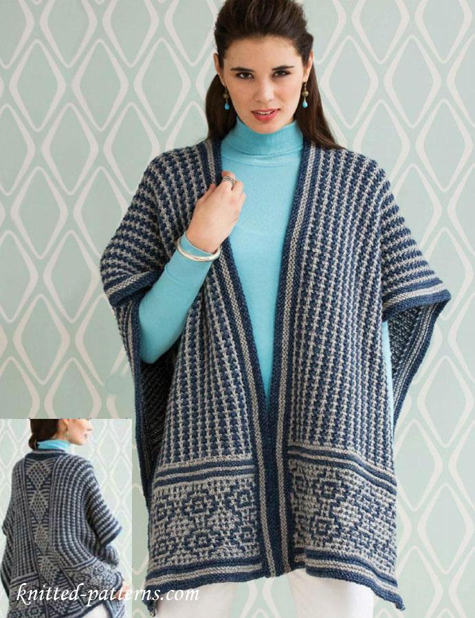 Knit And Crochet Bolero Pattern