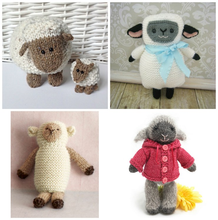 Easter Knitting Ideas: Lamb Patterns | knittedbliss.com
