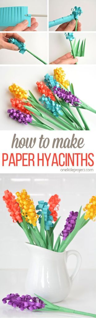Pin Ups and Link Love: DIY Paper Hyacinths | knittedbliss.com