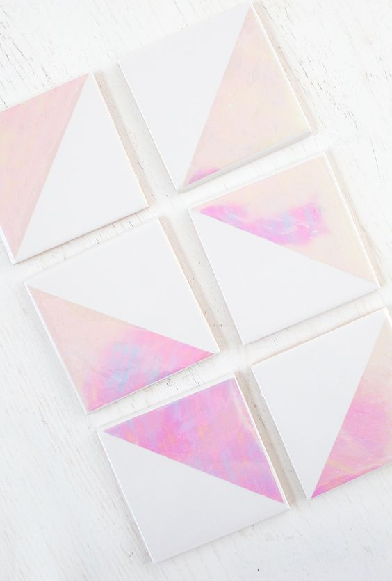 Pin Ups and Link Love: DIY Holographic Coasters| knittedbliss.com